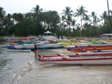 Hawaiian Outrigger Canoes Preparing