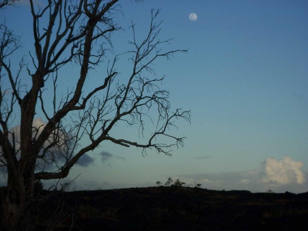 Moon Over Volcano