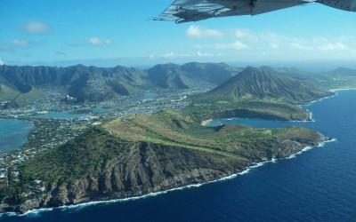 Oahu Coastline Overhead