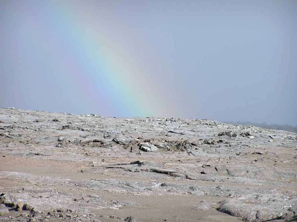Rainbow Over Halemaumau Crater