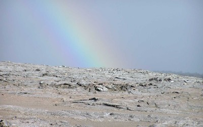 Rainbow Over Halemaumau Crater