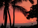 Orange Hawaii Sunset