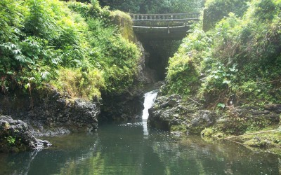 Seven Sacred Pools Bridge