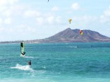 Windsurfers on Kailua Bay Ohau
