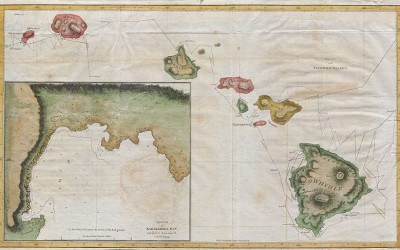 Cook Bligh 1785 Map of Hawaii