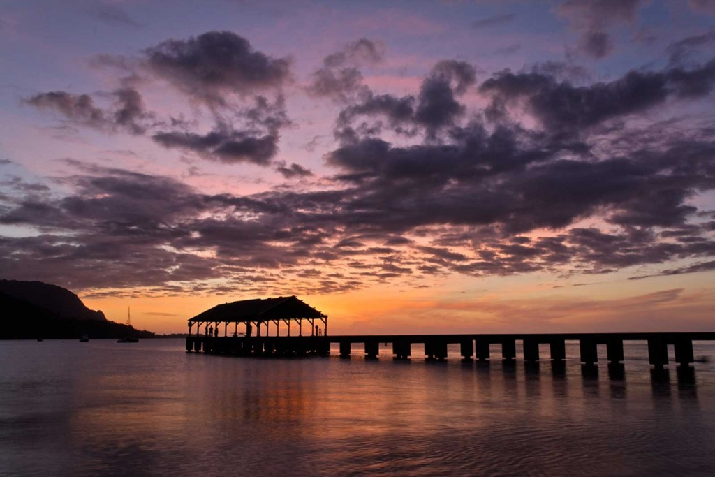 Hanalei Pier Sunset