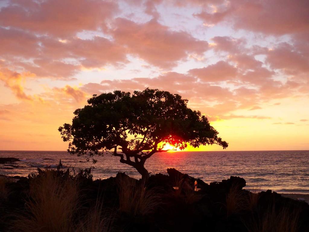 Kua Bay Beach Sunset