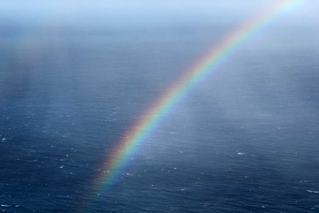 Hawaii Rainbow in Ocean