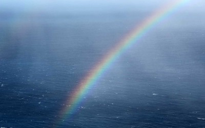 Hawaii Rainbow in Ocean