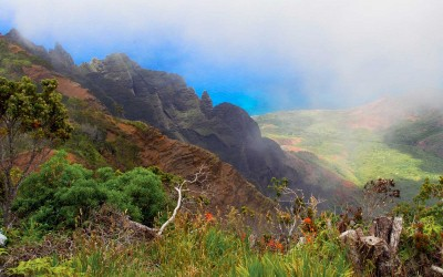 Kauai, Na Pali Coast from High