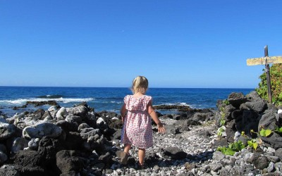 Little Girl at Hawaii Beach