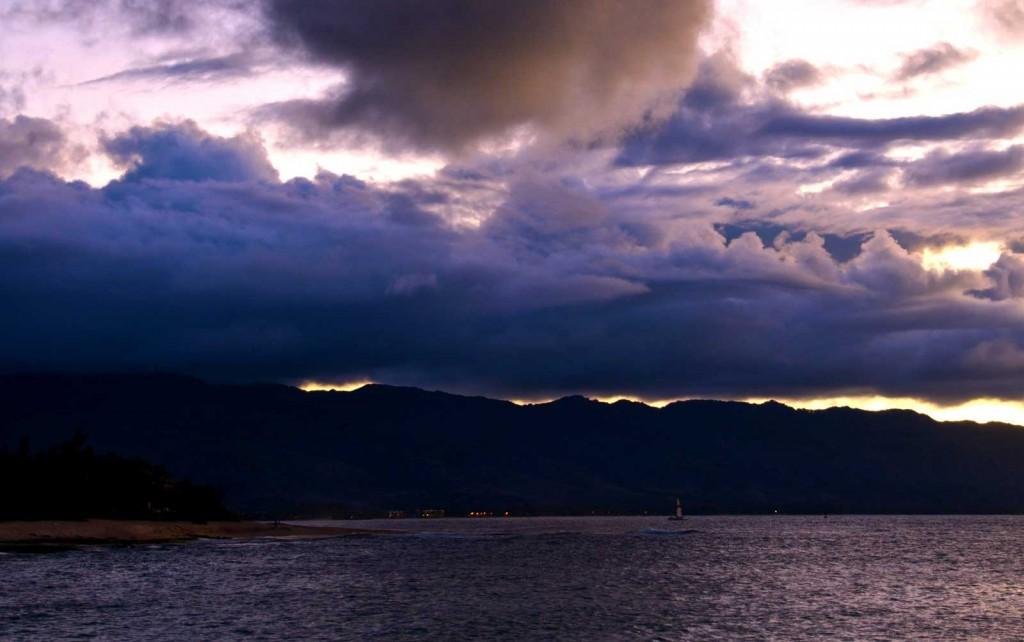 Haleiwa Sunset Storm Clouds
