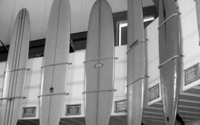 Kona Inn Old Surfboards