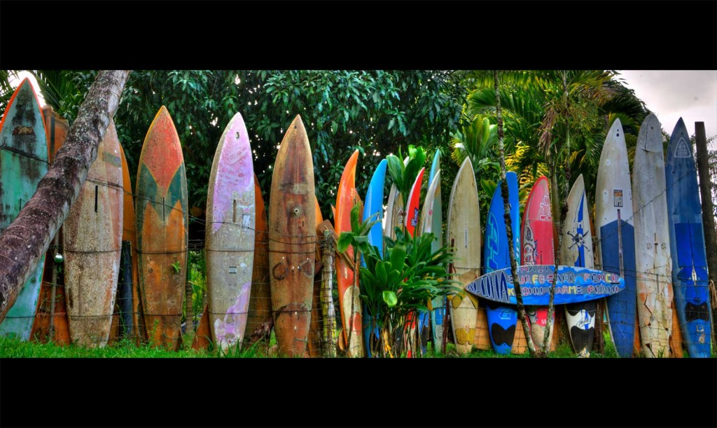 Peahi Surfboard Wall
