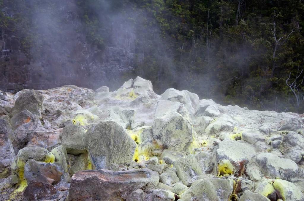 Volcano Sulfur Rocks