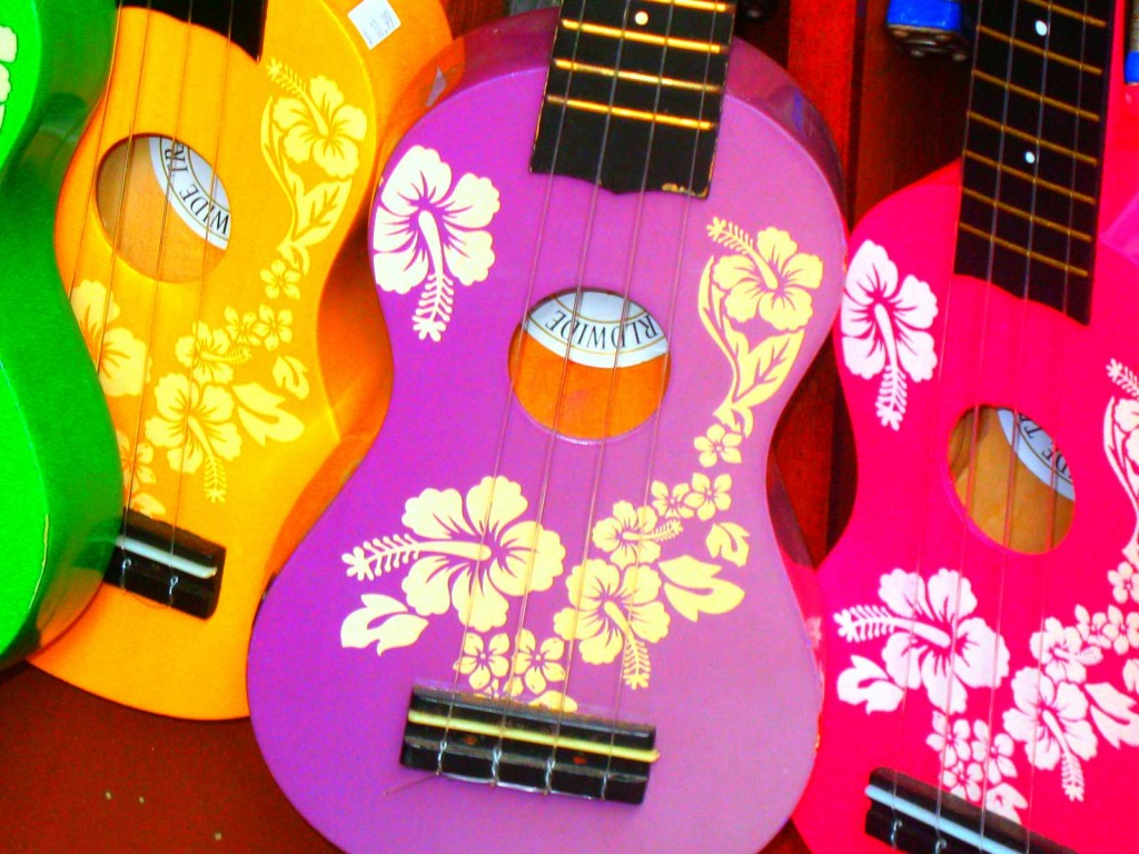Colorful Ukuleles