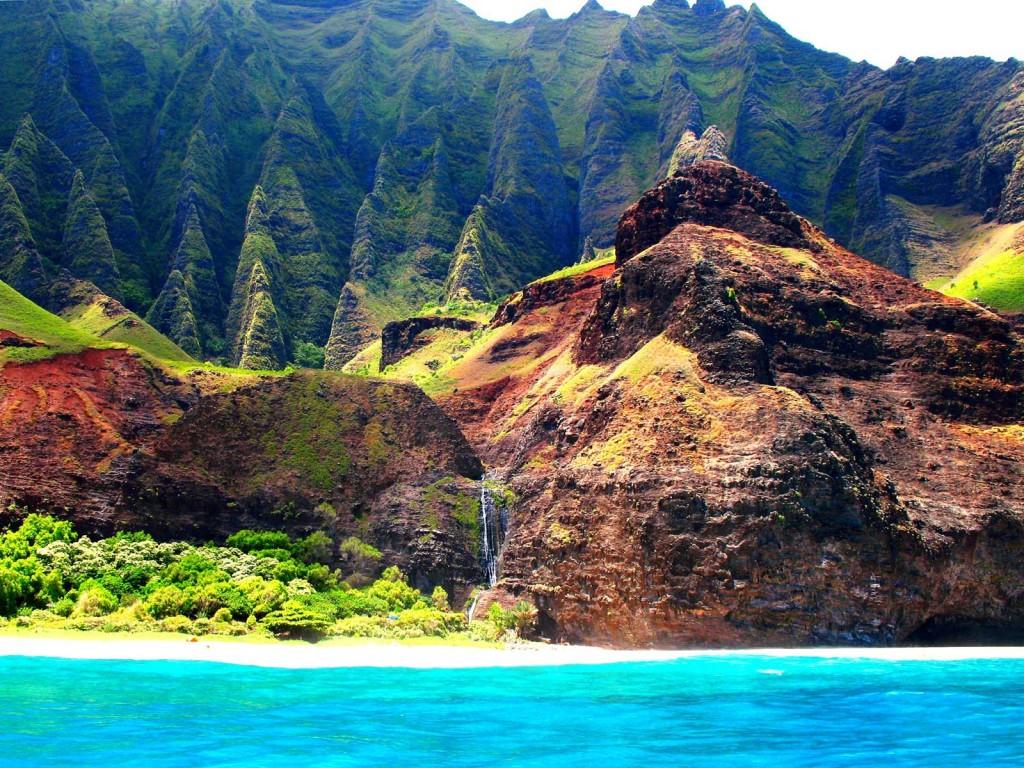 Kauai Na Pali Coast from Sea