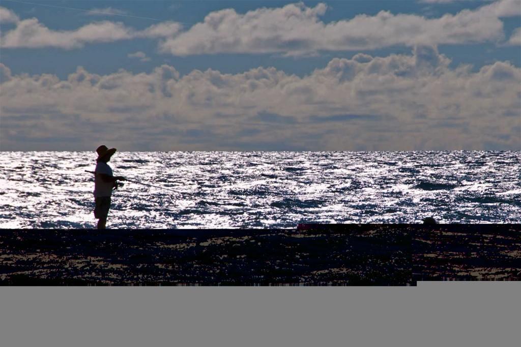 Oahu Couple Shore Fishing, Haleiwa