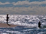 Oahu Couple Shore Fishing, Haleiwa