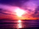 Purple Ocean Sunset, Oahu Hawaii