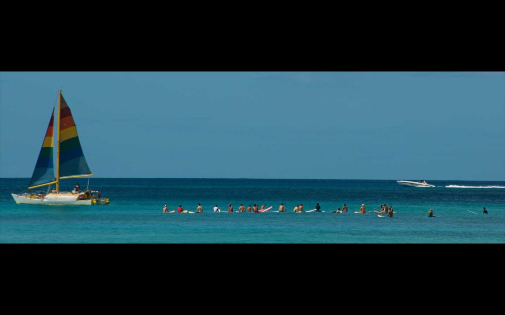 Waikiki Surf Line Up, Oahu Hawaii