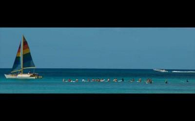 Waikiki Surf Line Up, Oahu Hawaii