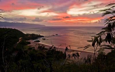 Waimea Bay Lava Sunset