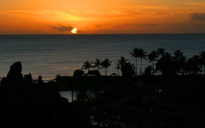 Disney Aulani Sunset, Oahu Hawaii