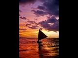 Sunset Hoolana Outrigger Canoe