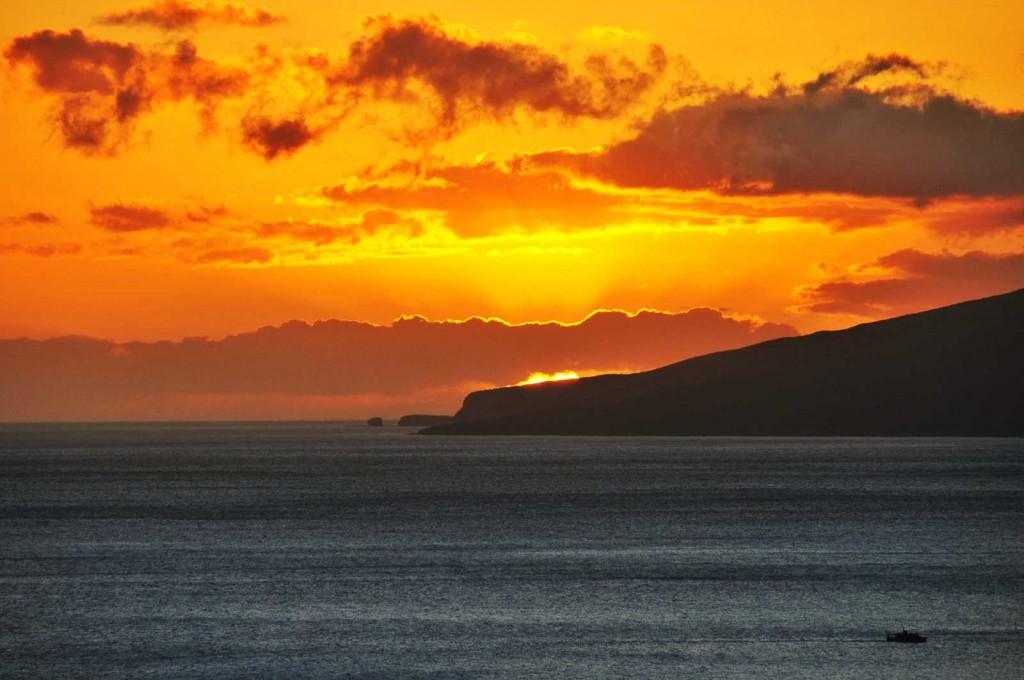Maui Sunset Toward Lanai