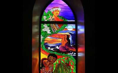 Saint Michael's Stained Glass, Kona Hawaii
