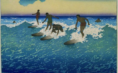 Surf Riders at Honolulu, Painting