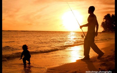 Hawaii Fisherman and Child