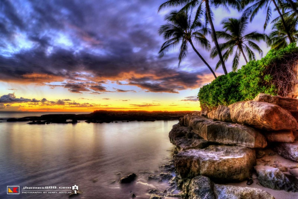 Hawaii Secret Beach, Koolina Sunset