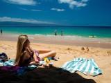 Lahaina Maui Beach Lounging