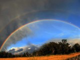 Makawao Rainbow and Moon