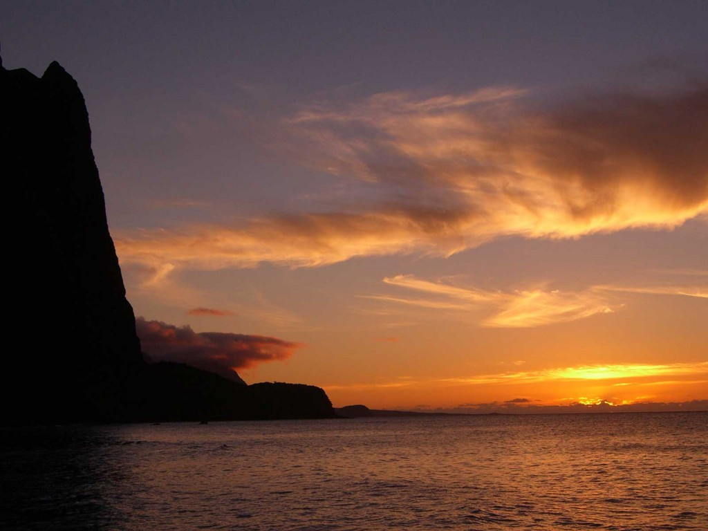 Molokai Cliff Sunset