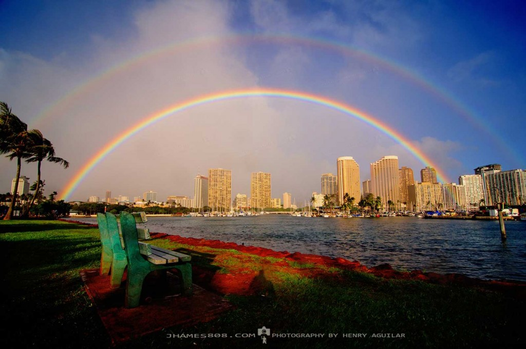 Ala Moana Double Rainbow