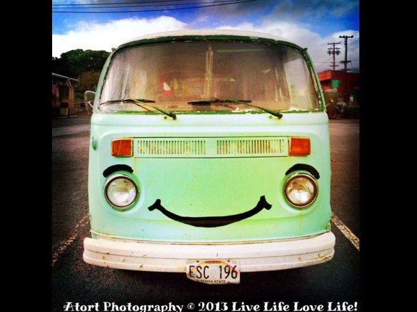 Smiling VW Bus, Hawaii