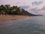 Warm Waikiki Beach Sunset
