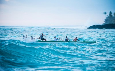 Keauhou Bay Canoe Wave Riding