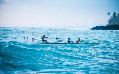 Keauhou Bay Canoe Wave Riding