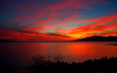Fiery Maui Sunset
