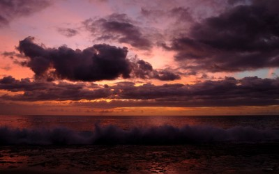 Maili Beach, Hawaii Sunset