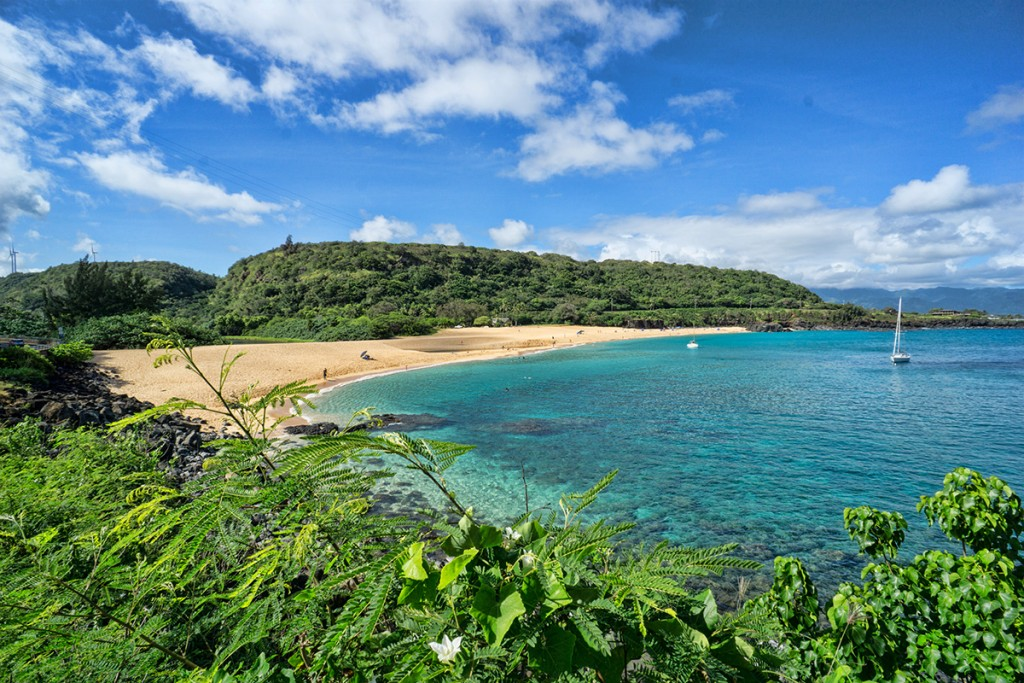 Waimea Bay Beach in North Oahu
